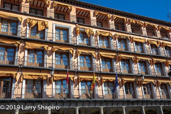 colorful building in Toledo Spain
