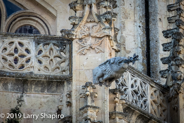 intricate architecture on Segovia church