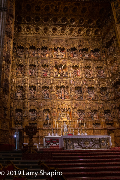 alter of the Great Cathedral of Seville Spain