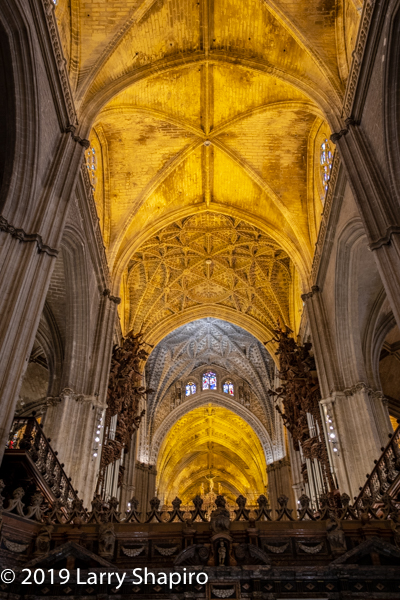 inside the Great Cathedral of Seville Spain