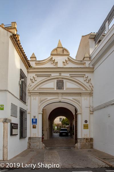 entry to Hospes Palacio del Bailio in Cordoba