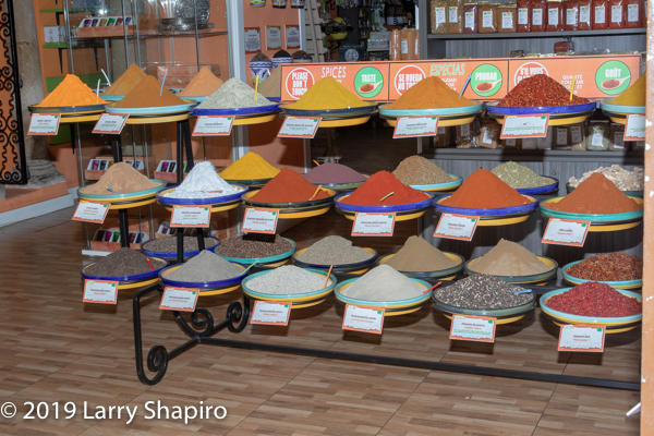 variety of spices on display in Cordoba