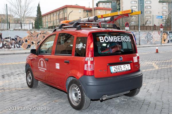Fiat Panda fire truck in Granada Spain