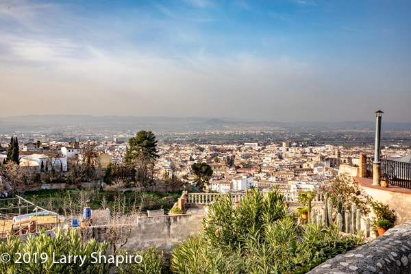 skyline view of Granada and The Alhambra