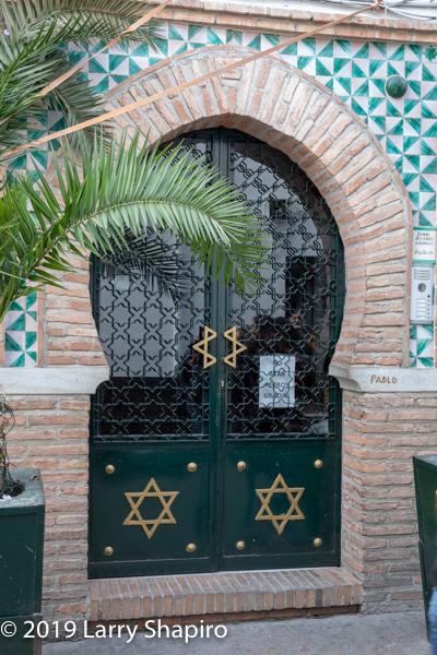 Star of David on door in Granada