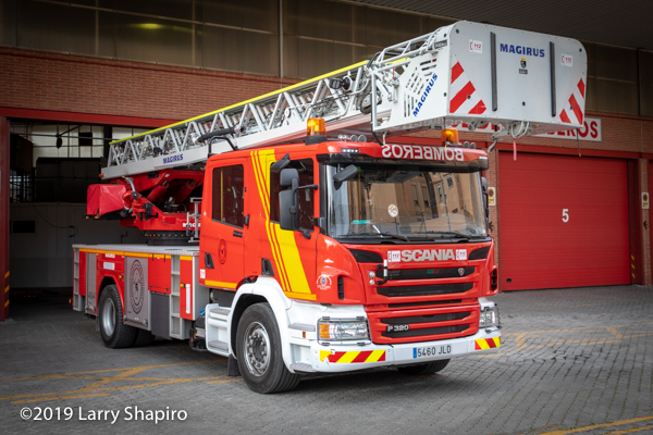 Magirus 39M aerial in Granada Spain