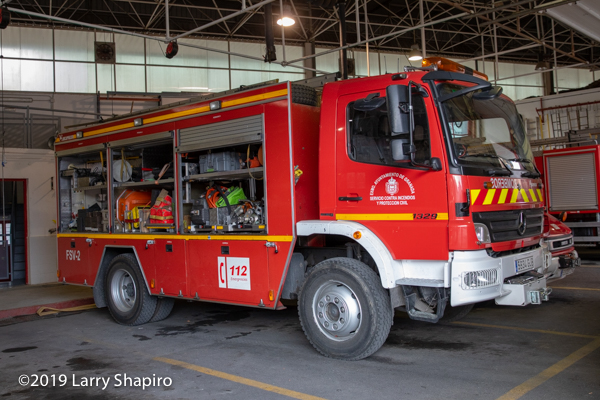 heavy rescue fire truck in Granada Spain