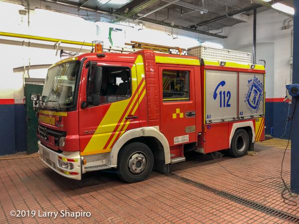 Madrid bombers Rosenbauer fire engine