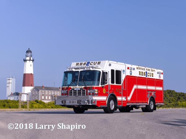 Montauk NY FD Rescue 2 Ferrara Inferno heavy rescue fire truck