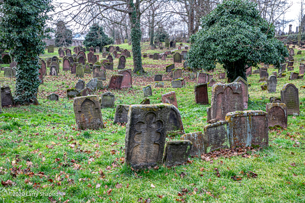 historic Jewish cemetery in Worms Germany