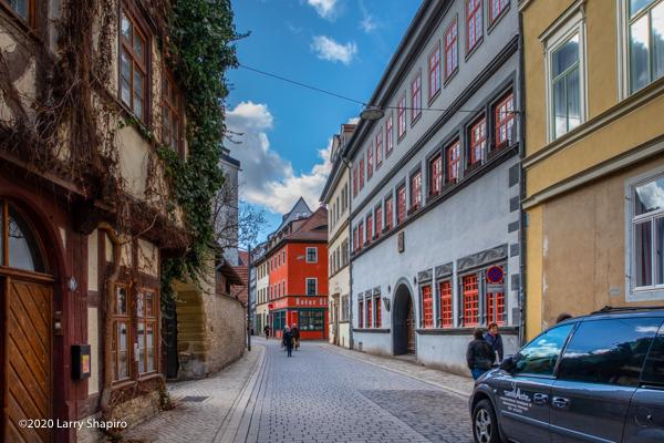 Quaint buildings in Erfurt Germany