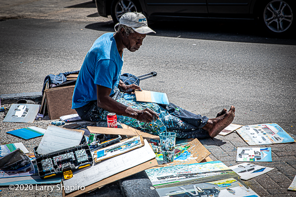 local artist in Nassau The Bahamas