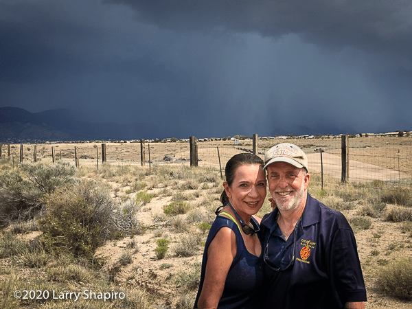 Dorothy and Larry Shapiro in New Mexico