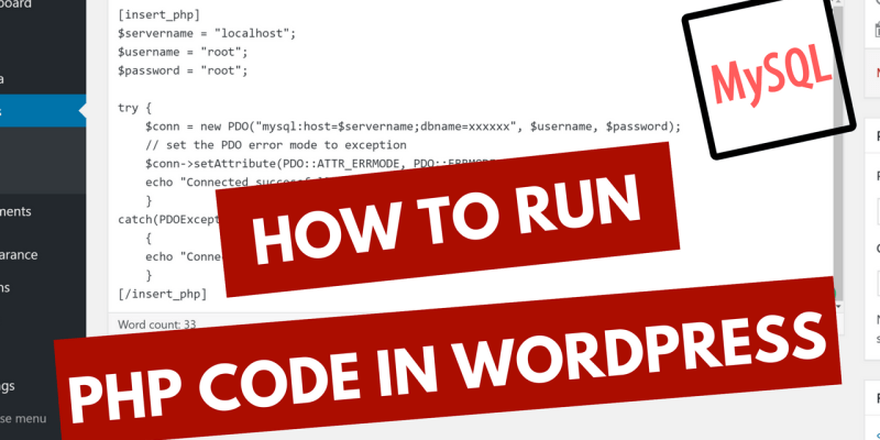 how-to-add-php-code-in-wordpress