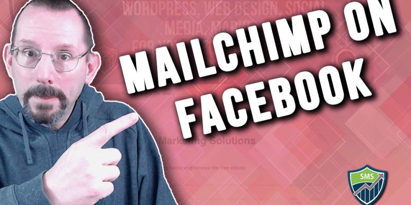 dd MailChimp signup form to facebook