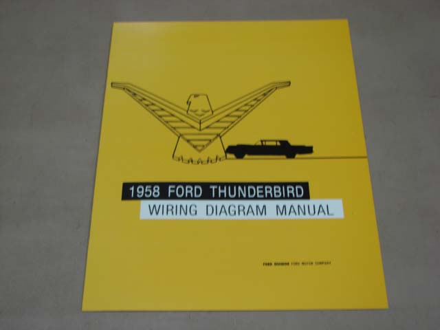 BLT WD58 Wiring Diagram 1958 Thunderbird For 1958 Ford