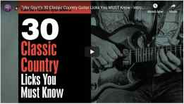 30 Classic Country Licks You Must Know