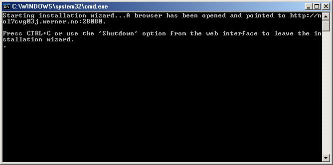 Webconfig running