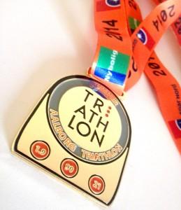 Medalje - Aalborg Triathlon - DM Halv Jernmand 2014