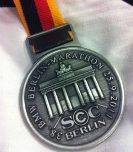 Medaljen fra Berlin Marathon