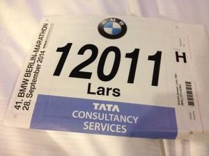 Startnummer Berlin Marathon 2014