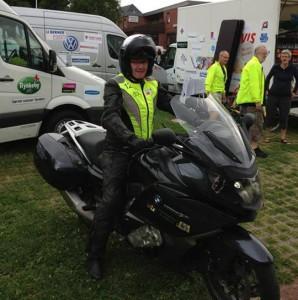 Uffe Danielsen - Race marshall på Team Rynkeby Nordjylland