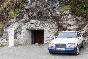 Car, Park Automat, Mercedes, Cave, Parking Lot, Tromsö, Street Photography, Photo Book, Lars Hübner, Fotograf, Norway, Reportage, Visual Storytelling
