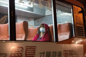 Bus ride, Polution, Breathing Protection, Street Photography, Asia, Taiwan, China, Photo Book, Lars Hübner, Fotograf, Nothing to Declare,