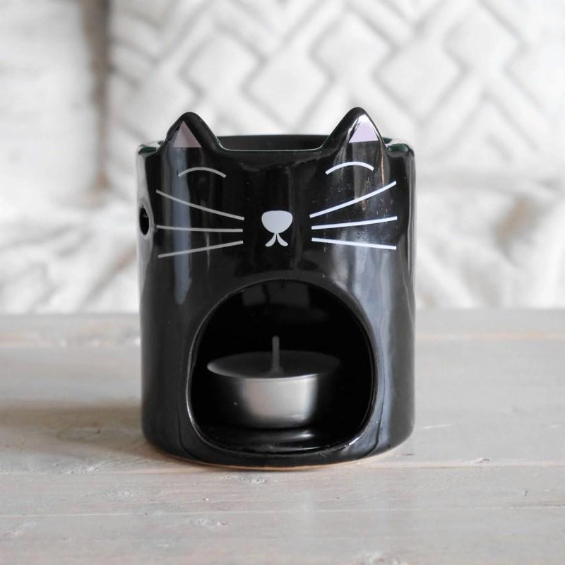 brule-parfum chat noir