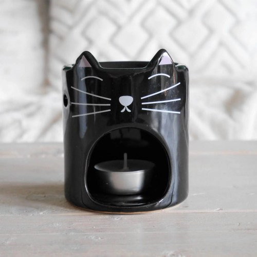 black cat perfume burner