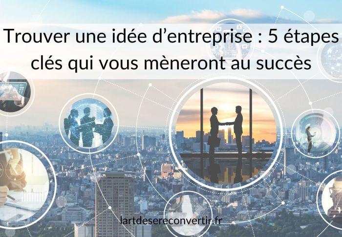 Trouver une idée d'entreprise : 5 étapes clés qui vous mèneront au succès
