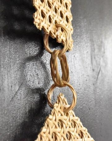 anneaux tissés en rotin