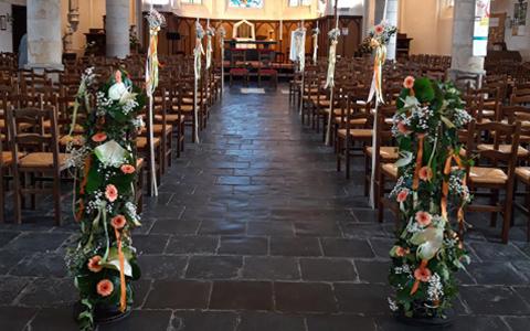 Décoration pour mariage église