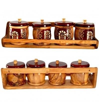 etagere a epices en bois d olivier lartisanet
