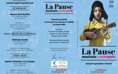 Saint-Orens accueille « La Pause Musicale de novembre 2018 à mai 2019