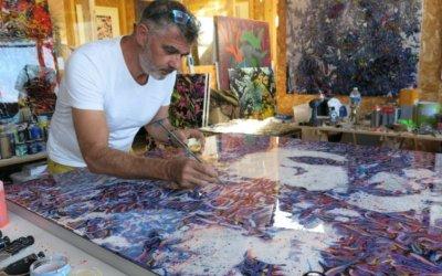 Venez découvrir les oeuvres de Michel Soubeyrand sur le stand Medi'Art à Art Montpellier