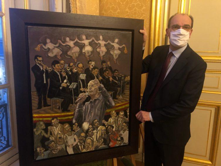 Une oeuvre du peintre céretan William Fenech à Matignon