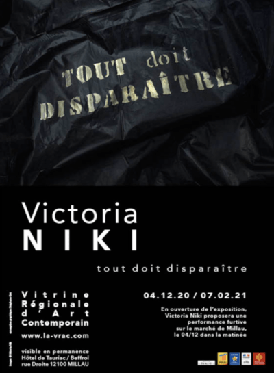 Une performance et une exposition de Victoria Niki proposée par la V.R.A.C à Millau à partir du 4 décembre