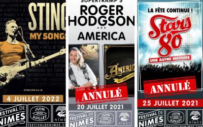 Festival de Nîmes : trois concerts de l'édition 2021 annulés