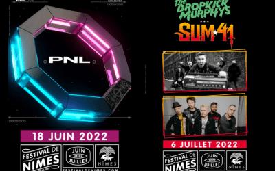 Festival de Nîmes : PNL, Sum 41 et The Dropkick Murphys annoncés pour 2022