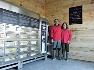 distributeur automatique d'huîtres