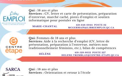 Venez rencontrer des organismes en employabilité dans Vanier !