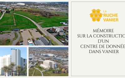 Mémoire sur la construction d'un centre de données dans Vanier