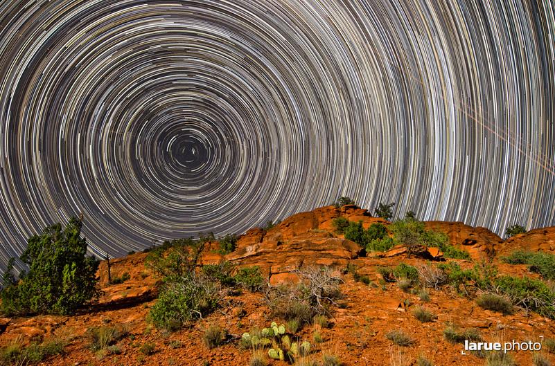 Startrails encircle Polaris, the North Star