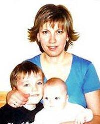 Svetlana Bakhmina with her children