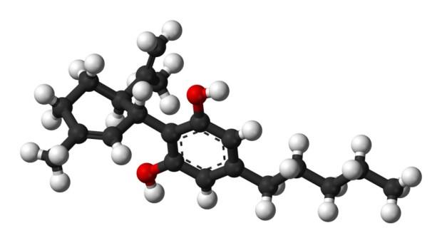 Molécula del Cannabidiol o CBD