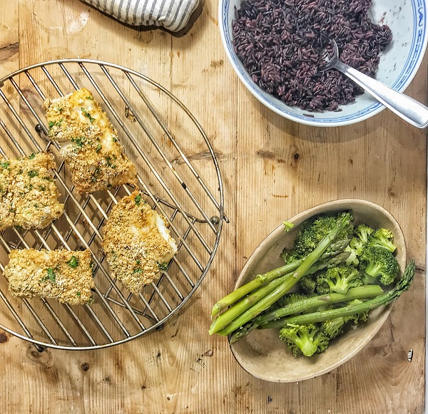 recette poisson pané detox printemps