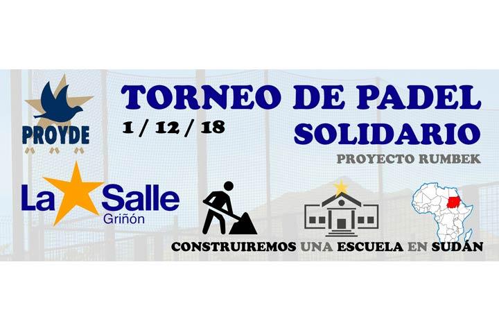 TORNEO SOLIDARIO DE PÁDEL PROYDE