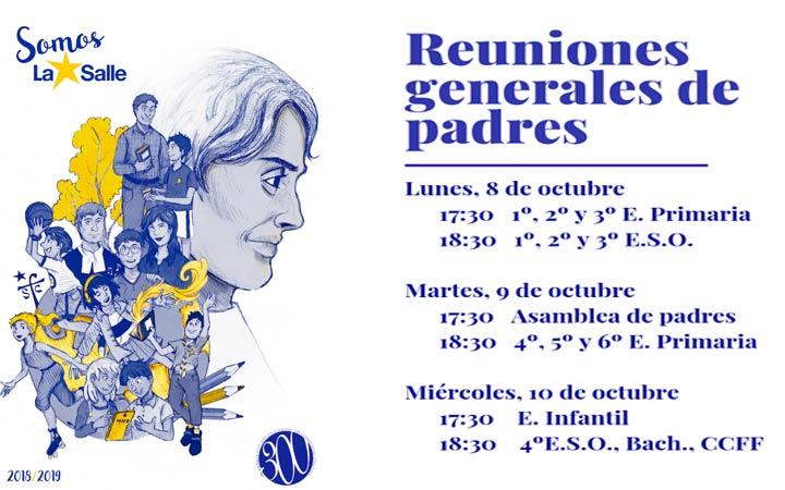 FECHAS Y HORAS REUNIONES DE PADRES