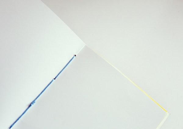 fil de reliure du carnet fait main A5 saphir